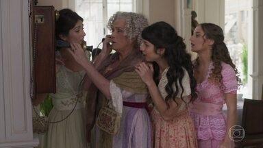 Elisabeta e Jane telefonam para o Vale - Ela fica surpresa com as novidades que suas irmãs contam