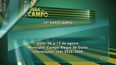 Confira a Agenda do Campo para esta semana em Goiás - 19° ExpoCampo e Expo Itapaci estão entre os destaques da agenda.
