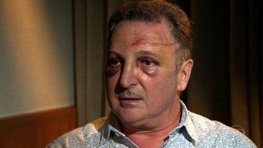 'Lembro apenas do momento em que o avião virou', conta sobrevivente de acidente aéreo - Empresário Geraldo Denardi estava no bimotor que caiu e pegou fogo no domingo (29), no Campo de Marte, em São Paulo. Seis das sete pessoas que estavam a bordo sobreviveram.