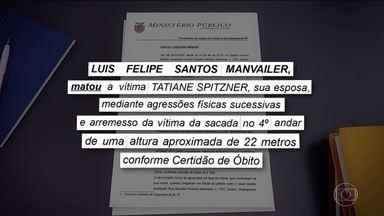MP do Paraná denuncia biólogo pela morte da mulher que caiu do prédio - Câmeras registraram Luís Felipe agredindo a advogada Tatiane Spitzner, antes de ela cair do quarto andar do prédio onde moravam.