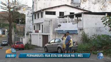 Moradores de Pernambués reclamam de falta de água que já dura um mês - A reportagem foi ao local conferir o problema. Envie sua denúncia para jm@redebahia.com.br.
