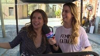 Nívea Stelmann relembra carreira e passeia pelos Estúdios Globo - Atriz hoje em dia vive com a família nos Estados Unidos