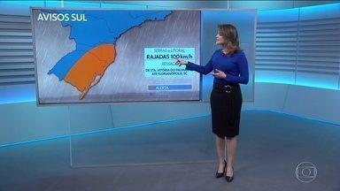 Veja a previsão para quinta (09) - Sudeste e Sul terão chuva e ventania.
