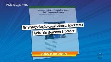 Em negociação com Grêmio, Sport tenta volta de Hernane Brocador - Assista ao vídeo.