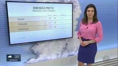 Veja a previsão do tempo para esta sexta-feira (10) na região de Ribeirão - Temperaturas devem ser mais amenas nas cidades.