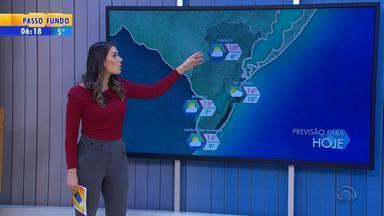 Tempo: sexta-feira (10) amanhece com temperaturas negativas no RS - A previsão é de tempo firme em quase todo o estado.