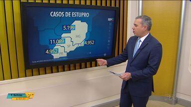 Paraná é o terceiro estado com maior número de estupros - Foram quase cinco mil casos em 2017, mas o número pode ser muito maior, porque muitas mulheres ainda não fazem a denúncia de violência sexual e doméstica
