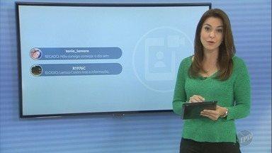 'Tag Bom Dia Cidade': Veja comentários dos telespectadores sobre a edição desta sexta - Comente sobre as reportagens nas redes sociais com a tag '#bdc' e apareça ao vivo no telejornal.