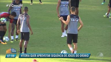 Vitória enfrenta o Grêmio no domingo (12) em Porto Alegre - Veja os destaques do rubro negro baiano.