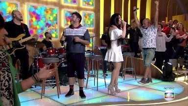 A Turma do Balão Mágico faz o Encontro voltar no tempo - Grupo canta 'Lindo Balão Azul'