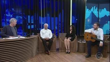 Os filhos Beatriz Rabello e João Rabello se juntam a Paulinho - Paulinho comenta sobre seus filhos