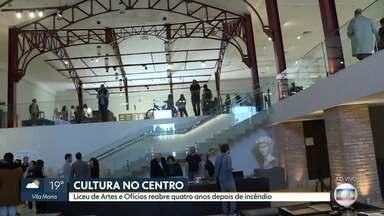 Centro Cultural do Liceu de Artes e Ofícios é reaberto quatro anos após incêndio - O espaço já está de portas abertas para quem quiser conhecer um pouco mais da história da arte e arquitetura paulistana.