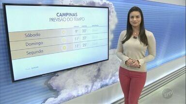 Campinas tem máxima de 21ºC e céu limpo durante o dia inteiro - Confira a previsão do tempo para as outras cidades da região.