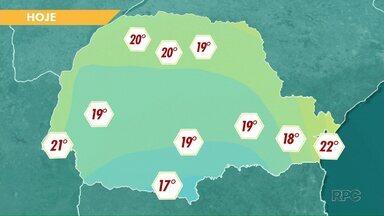 Temperaturas permanecem baixas no fim de semana - Segundo a meteorologia, há risco de geada na região de Apucarana.