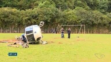 Técnicos da aeronáutica investigam causas de acidente de helicóptero com Hartung - Hartung estava com a esposa e os dois pilotos na aeronave e passam bem.