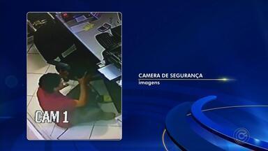 Câmera de segurança registra furto a loja de materiais de construção em Tatuí - Crime foi registrado no Jardim Modena, segundo a polícia. Suspeito não foi encontrado.