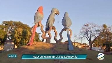 Praças em municípios de MS precisam de melhorias e cuidados - Um dos locais é a Praça das Araras, em Campo Grande.