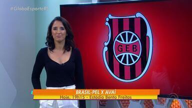 Brasil de Pelotas enfrenta o Avaí pela série B do Brasileirão - O jogo acontece nesta terça-feira (14), às 19h15.