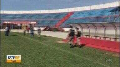 Polícia Militar faz nova vistoria no Estádio Manduzão, em Pouso Alegre (MG) - Polícia Militar faz nova vistoria no Estádio Manduzão, em Pouso Alegre (MG)