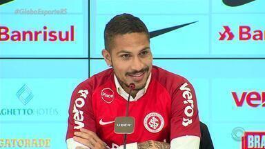Guerrero diz estar ansioso para estrear no Inter - Na tarde desta quarta-feira (15) se apresenta aos torcedores no Beira-Rio.