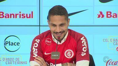 Confira a entrevista coletiva de Paolo Guerrero como novo reforço do Internacional - Assista ao vídeo.