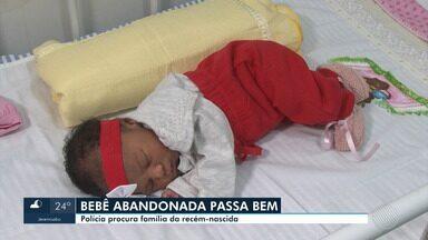 Polícia está a procura da família de recém-nascida encontrada em campo de futebol - O bebê foi levado ao hospital e os médicos afirmam que ela passa bem.