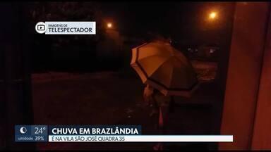 Choveu em Brazlândia - Chuva caiu na quadra 35 da Vila São José