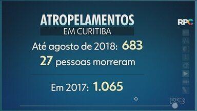 Número de atropelamentos em Curitiba já passa dos 680 em 2018 - Uma criança foi atropelada em frente a uma escola e os moradores protestam pedindo sinalização.