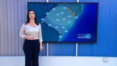 Tempo: passagem de frente fria traz chuva ao RS neste domingo (19) - Assista ao vídeo.