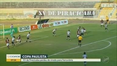 Quinze de Piracicaba perde, de virada, para a Ferroviária - Nhô Quim volta a campo no próximo sábado (27), contra o Rio Claro.