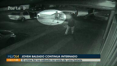 Continua internado jovem que foi baleado na saída de balada, em Cascavel - O crime foi no último sábado. Dois homens estão presos e vão responder pelo crime.