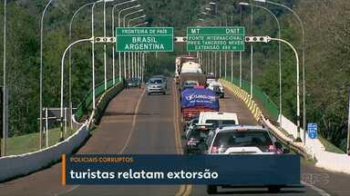 Após prisão de policiais paraguaios, brasileira relata extorsão de policiais argentinos - Na sexta-feira (17), turistas denunciaram policiais paraguaios.