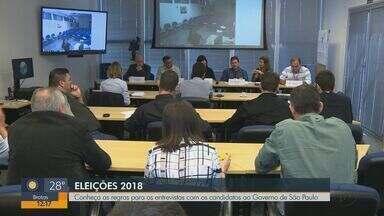 EPTV inicia entrevistas com candidatos ao governo de São Paulo a partir de 27 de agosto - Critérios foram discutidos nesta segunda-feira (20) com representantes de partidos políticos.