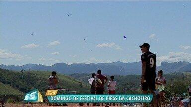 Cachoeiro de Itapemirim realiza primeiro festival de pipas, no Sul do ES - Festival aconteceu no bairro Alto Coramara.