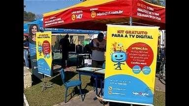 Fim de semana foi de arrastão digital em Santa Maria - O sinal analógico de televisão vai ser desligado no dia 5 de dezembro em 9 cidades da Região Central do Rio Grande do Sul.