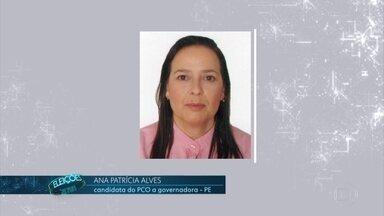 Ana Patrícia Alves é candidata do PCO a governadora de PE - O PCO não coligou com outros partidos em Pernambuco.