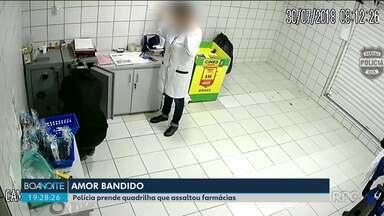 Polícia prende quadrilha que assaltou várias farmácias em Curitiba - Segundo as investigações, namoradas e esposas dos bandidos ajudavam nos assaltos.