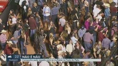 Campanha faz alerta contra assédio a mulheres na Festa do Peão de Barretos - Pedido é que haja respeito durante a paquera na arena do evento