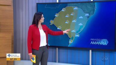 Tempo: metade Leste do RS pode receber chuva nesta quarta-feira (22) - Veja como fica a previsão.
