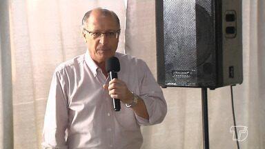 Candidato à presidência da República, Geraldo Alckmim visita Santarém - Alckimin diz que, se eleito, vai melhorar estradas para escoamento de grãos do Pará.