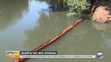 Rio Atibaia tem contenções e monitoramento para evitar problemas com captação em Sumaré - Cetesb confirmou que nível da água no rio para combate a incêndios caiu.
