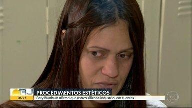 Paty Bumbum diz que usava silicone industrial em clientes - A massoterapeuta Patrícia Silva dos Santos está presa em Bangu 8. Ela é suspeita de envolvimento na morte de Mayara da Silva dos Santos.