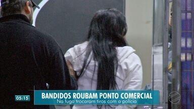 Bandidos trocam tiros com a polícia - Bandidos trocam tiros com a polícia
