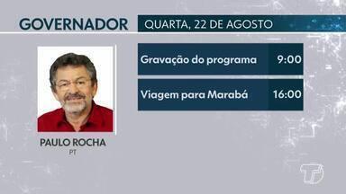 Confira compromissos dos candidatos ao governo do Pará desta quarta-feira - Acompanhe a programação diária dos candidatos ao governo do estado.