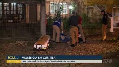 Violência em Curitiba - Moradores do bairro Água Verde são esfaqueados