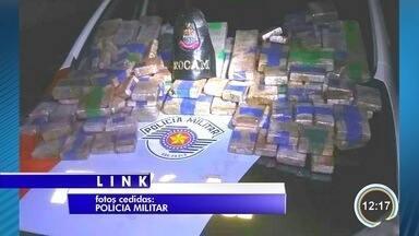 Homem é preso com 37 quilos de maconha em São Sebastião - Entorpecentes estavam escondidos em uma mala.