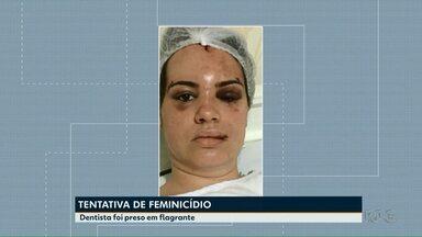 Dentista que agrediu esposa é indiciado por tentativa de feminicídio - O caso foi registrado em Cascavel