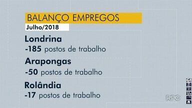 Ministério do Trabalho divulga novo balanço de empregos - Londrina já acumula 2.927 vagas a menos só esse ano.