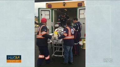 Continua em estado grave um das vítimas de atropelamento na BR 376 - Foram 3 atropelados no mesmo dia
