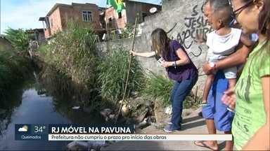 O RJ Móvel dessa sexta-feira foi na Pavuna - Os moradores querem a limpeza de um valão que está assoreado. Quando chove, transborda e inunda as casas próximas